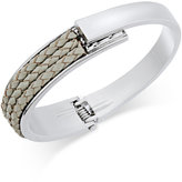 INC International Concepts Gold-Tone Mixed-Media Bangle Bracelet, Only at Macy's