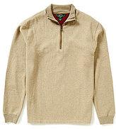 Woolrich Long-Sleeve Faux-Suede Elbow Patch Boysen Half-Zip Mock Neck Pullover