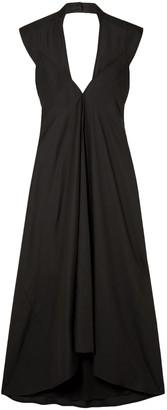 Victoria Beckham Open-back Satin Midi Dress