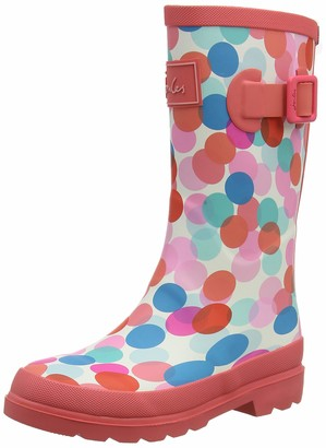 Joules Girls' JNR Welly Print Rain Boot