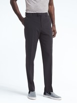 Banana Republic Standard Navy Wool Blend Seersucker Suit Trouser