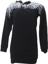 Marcelo Burlon County of Milan Black Printed Paloma Cotton Sweater