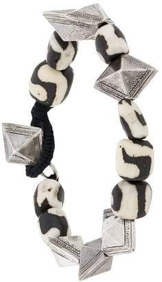 Saint Laurent Stone-Embellished Beaded Bracelet