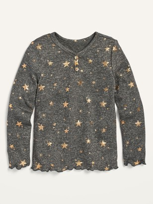 Old Navy Cozy Plush-Knit Star-Print Henley for Toddler Girls