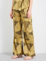 AIMEE Striped jacquard silk-blend pyjama trousers