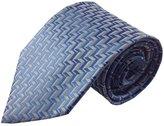 Kai Multi Zig Zag Geometric Pattern Silk Necktie