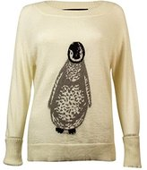 French Connection Women's Penguin Intarsia Sweater