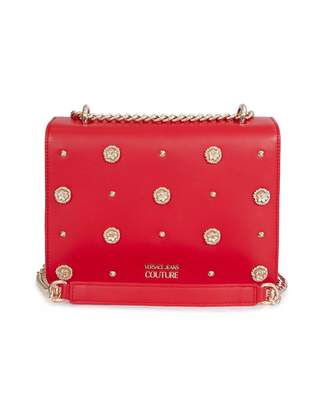 Versace Accessories All Over Stud Logo Chain Bag Colour: