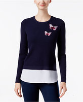 INC International Concepts Layered-Look Butterfly Sweater, Only at Macy's