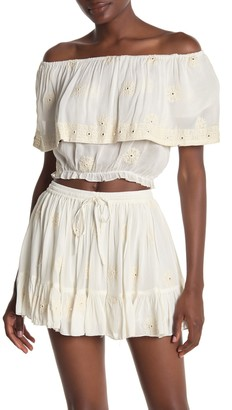 Raga Angelwing Embroidered Crop Top