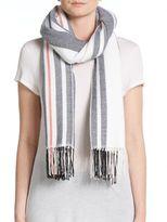 Rag & Bone Warped Stripe Merino Wool Scarf