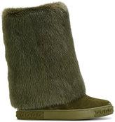 Casadei mink fur-trimmed Chaucer boots