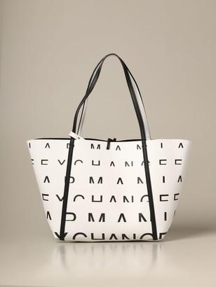 Armani Collezioni Armani Exchange Tote Bags Armani Exchange Handbag In Textured Synthetic Leather