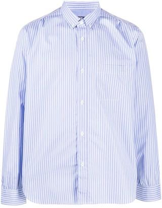 Junya Watanabe Long Sleeve Stripe Print Shirt