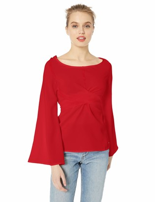 A|X Armani Exchange Women's Wrap Bell-Sleeved Blouse