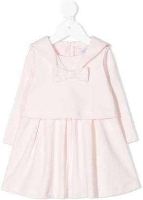 Patachou Sailor Collar Cotton Dress