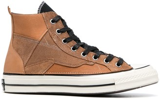 Converse Contrasting Laces Hi-Top Sneakers