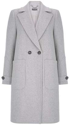 Mint Velvet Silver Grey Boyfriend Coat