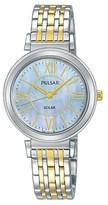 Pulsar Ladies Solar - Two Tone with Mother of Pearl Dial - PY5029