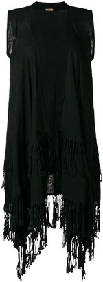 CARAVANA Sleeveless Fringed Coat