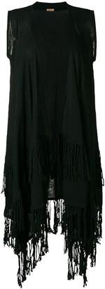 CARAVANA Sleeveless Fringed Coat