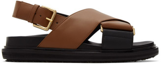 Marni Brown Fussbett Sandals