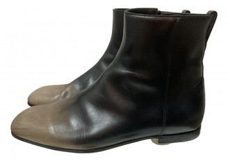 Bottega Veneta Black Leather Boots