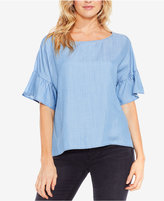 Vince Camuto TWO By Ruffle-Sleeve Relaxed Top