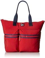 Tommy Hilfiger Nylon Large Tote Top Handle Bag
