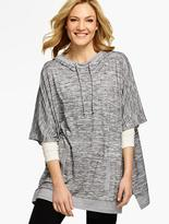 Talbots Space-Dyed Hooded Poncho