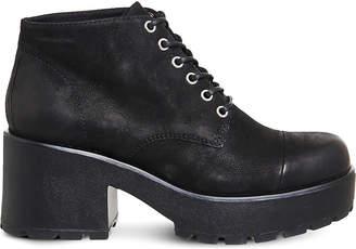 Vagabond Ladies Black Dioon Nubuck Lace-Up Shoes