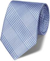 Charles Tyrwhitt Blue silk classic Prince of Wales check tie