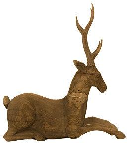 Jayson Home & Garden Vintage Wooden Deer