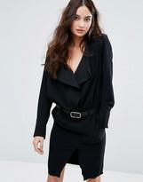 BA&SH Frill Long Sleeve Dress With Belt