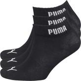 Puma Mens Three Pack Quarter Socks Black