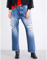 Unravel Ladies Distressed Traditional Baggy-Fit Mid-Rise Jeans