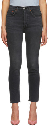 RE/DONE Black Originals High Rise Jeans