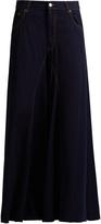 Maison Margiela Low-slung fluted wide-leg denim trousers