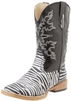 Roper Square Toe Glitter Zebra Western Boot (Toddler/Little Kid)