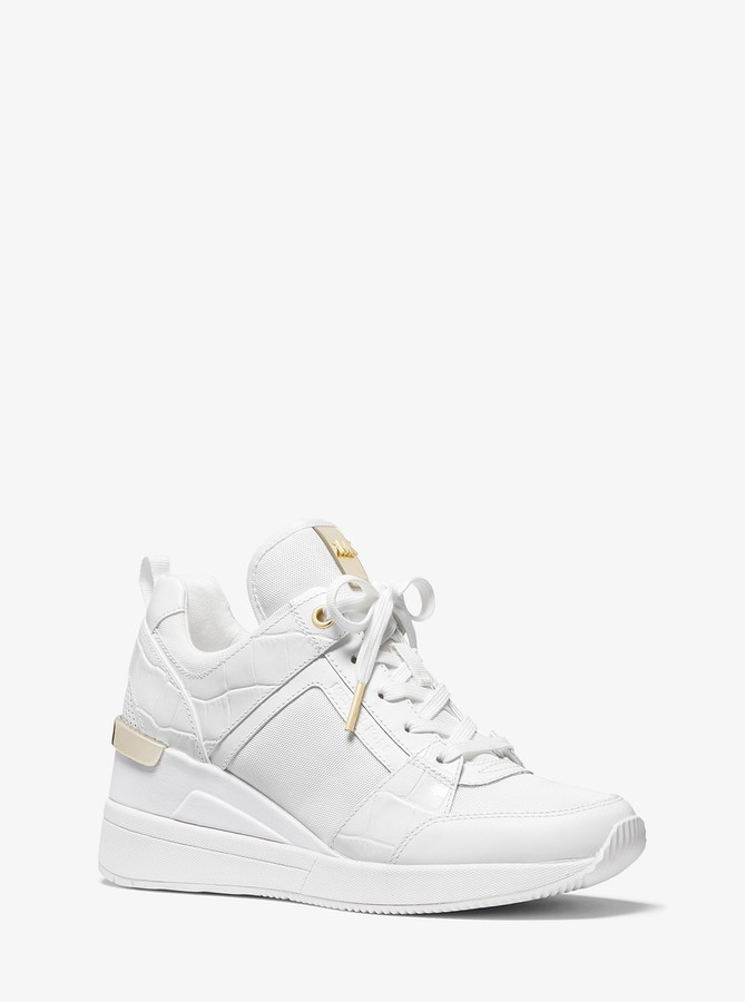 georgie canvas and suede sneaker