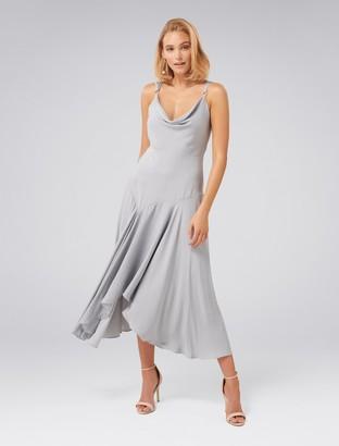 Forever New Sidney Cowl Slip Dress - Dusty blue - 4