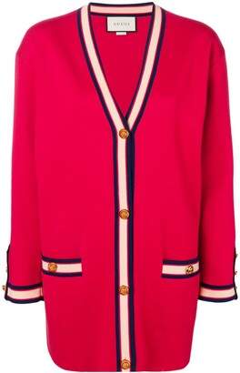 Gucci oversized cardigan with Web detail