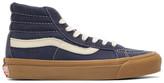Vans Blue Nubuck OG Sk8-Hi LX Sneakers
