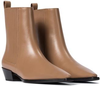 AEYDĒ Belinda leather ankle boots