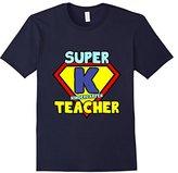 River Island Funny Kindergarten Teacher Quote Gift Super K Symbol T-Shirt