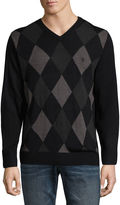 USPA U.S. Polo Assn. Long Sleeve V-Neck Argyle Sweater