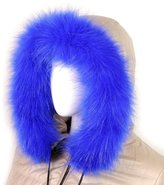 Futrzane Trim Hood Faux Fake Fur Hood Winter for Jacket Ski Collar Wrap Shawl