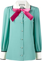 Gucci long sleeve pussy bow blouse - women - Silk/Polyester - 42