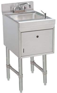 "Advance Tabco Free Standing Handwash Station with Faucet Advance Tabco Size: 32.88"" H x 12"" L x 21"" W"