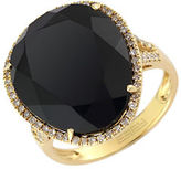 Effy 14 Kt. Yellow Gold Onyx and Diamond Ring
